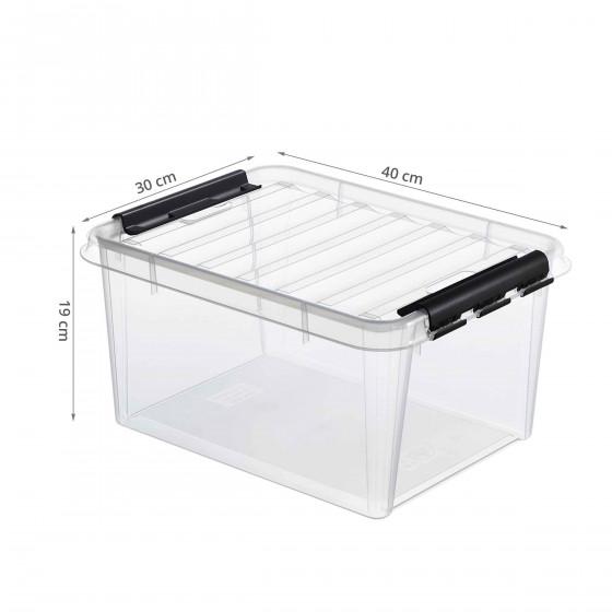 boite de rangement en plastique avec couvercle 14 litres