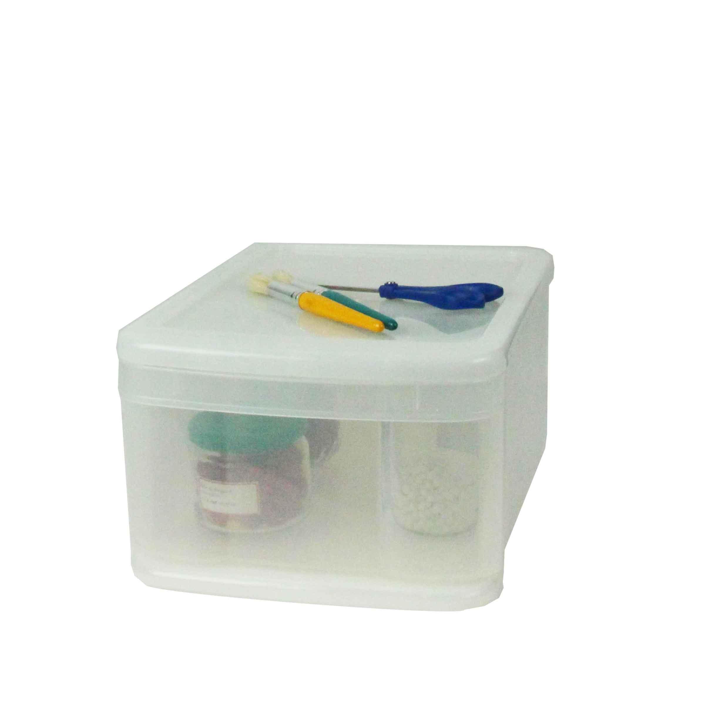 boite tiroir en plastique transparent l