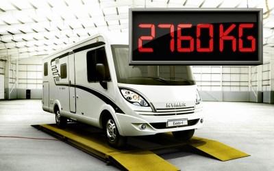¿Cuánto pesan nuestras autocaravanas?