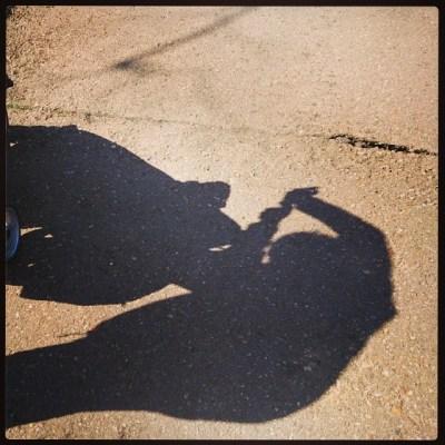 Playing shadows in the sun #isleofwight