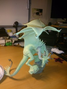A model dragon