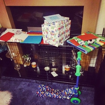 Sqk's presents & cards thus far. Ready for morning....