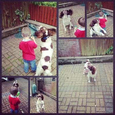 Take one mad dog & one Sqk. Add bubbles..... #100HappyDays