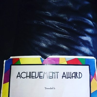#todayistheday that Sqk got an award at school - even if anxiety means he chewed it #taspic