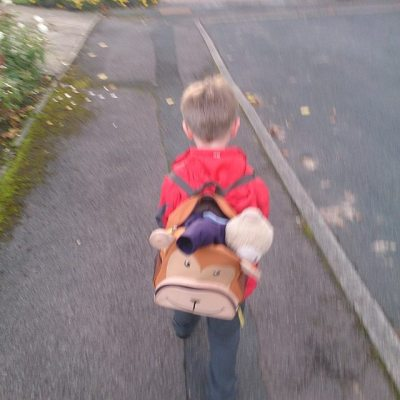 #todayistheday Sqk brought Reception bear home. My view on way home from childminders.... #taspic