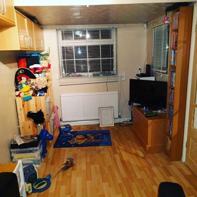 Tonight was #firsttime for Sqk in his playroom/family room (was our study) #taspic