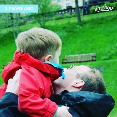 Still one of my favourite photos of T & Sqk. 2 years ago in gardens outside Scottish Parliament.