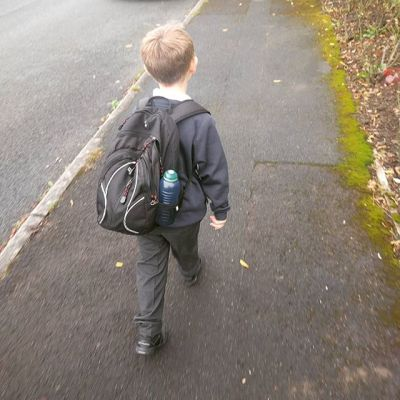 The obligatory first day back at school - #adoption style :)
