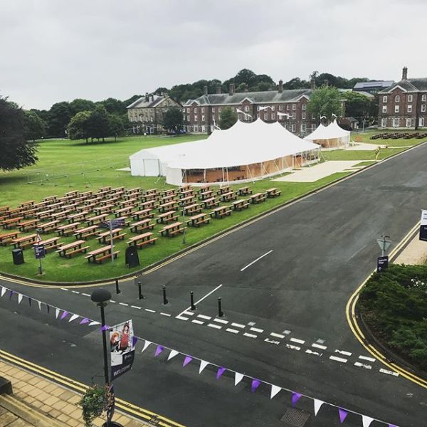 Current view out of my office - anyone think it is graduation next week....