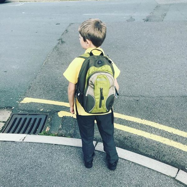 Second day at school (Mummy forgot yesterday) Adoption style. New School so far so good #firstdayofschool