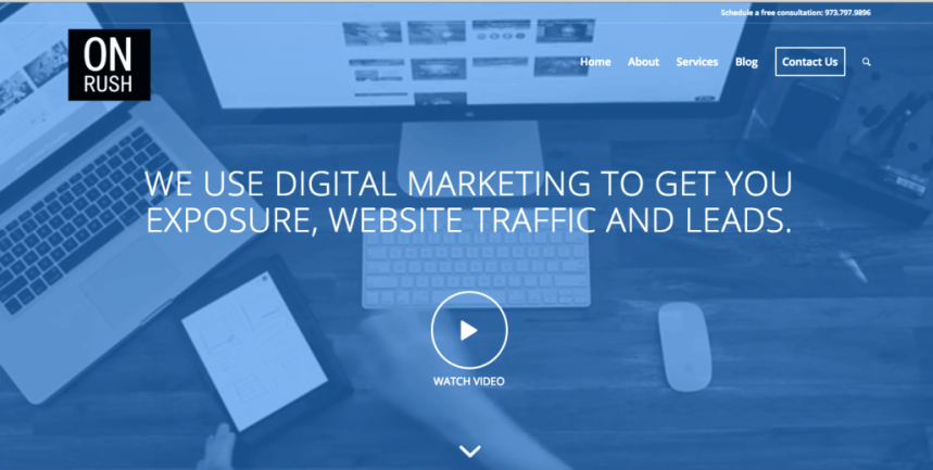 digital marketing homepage after