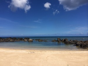 The beach at The Westin Turtle Bay