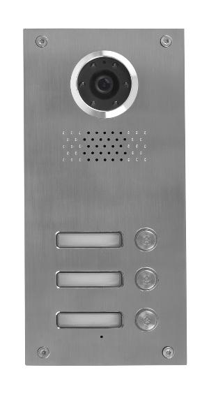 NEOSTAR Unterputz-Türstation für 3-Familienhaus mit 700TVL Kamera und Nachtsicht, 4-Draht-Technik - BMV-T2403W
