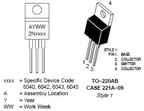 2N6040: 8.0 A, 60 V PNP Darlington Bipolar Power Transistor
