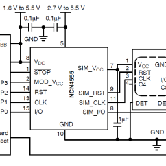 Sim Card Reader Circuit Diagram Clarion Xmd1 Wiring Ncn4555 Power Supply And Level Translator Packages