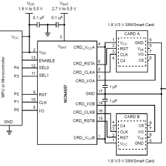 Sim Card Reader Circuit Diagram Ceiling Wiring Ncn4557 Sam Smart Power Supply And Level Shifter Dual Packages