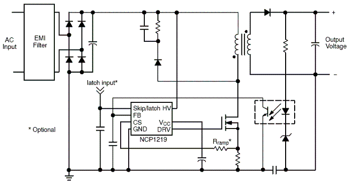 NCP1219: PWM Controller with Adjustable Skip Level and