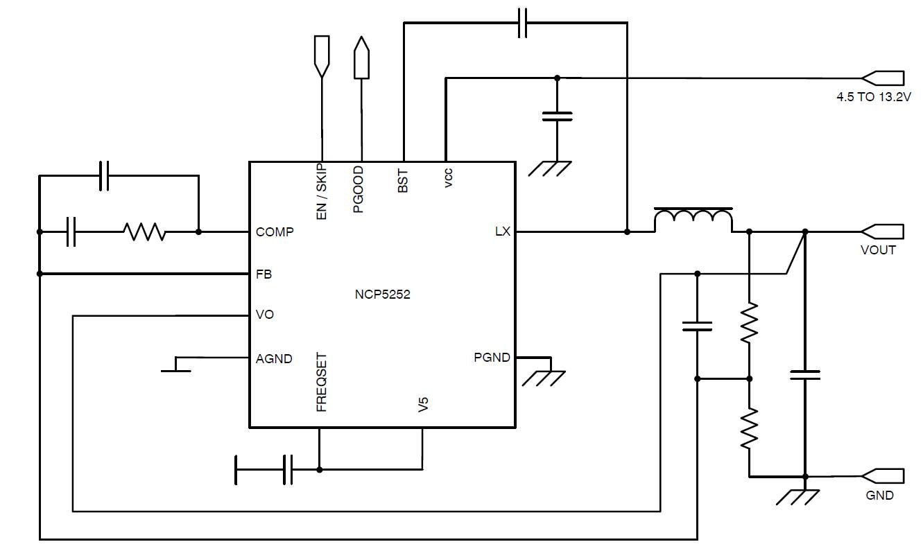 NCP5252: Synchronous Buck Regulator, Integrated, 2.0 A, 1