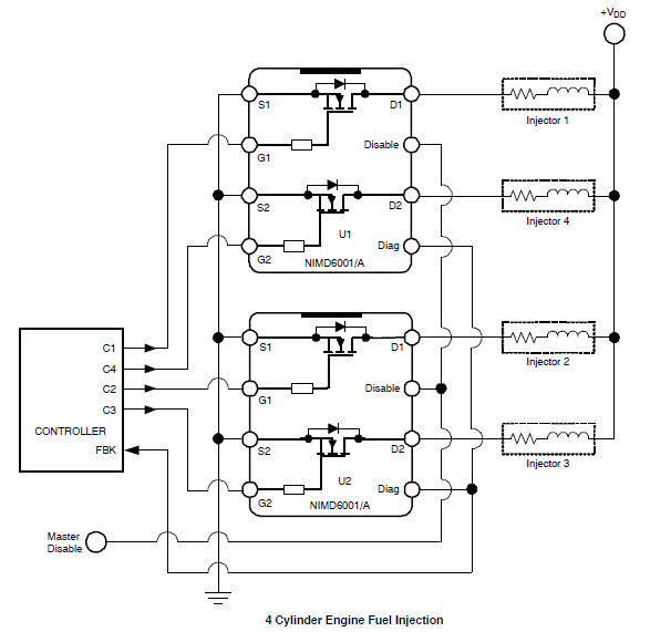 NIMD6001A: Dual N-Channel MOSFET Driver with Diagnostic Output