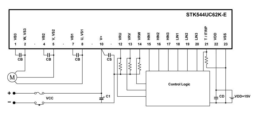 STK544UC62K-E: Intelligent Power Module (IPM), 600 V, 10 A