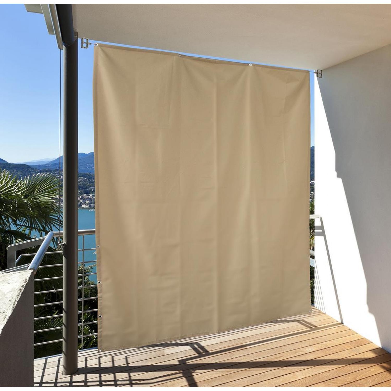 sichtschutz balkon i mit sonnensegel in seilspanntechnik - boisholz, Gartengerate ideen