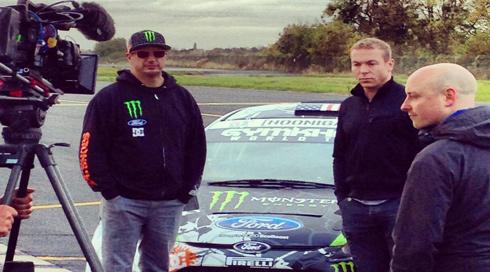 Ken Block meets Sir Chris Hoy for Racing Legends