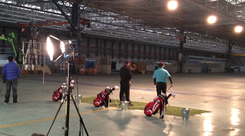 Onside-PR-assist-Taylor-Made-with-golf-advert-at-Woodford-with-Avro-Heritage