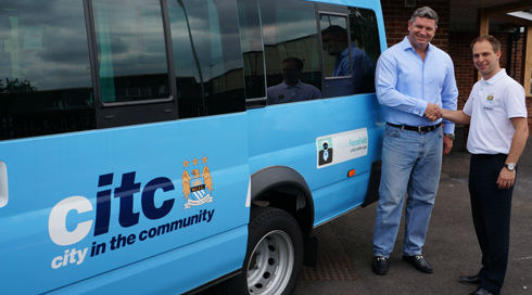 MobileForceField-hand-over-mini-bus-to-CITC