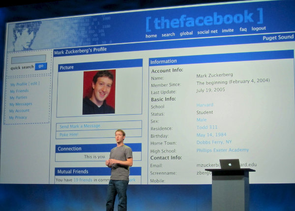 Mark Zuckerberg presentation