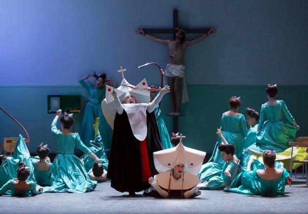 chanteuses de l'Académie de l'Opéra Comique / Les Cris de Paris / Nicole Monestier (la mère supérieure) / Doris Lamprecht (sœur Opportune) / Paul Canestraro (figurant)