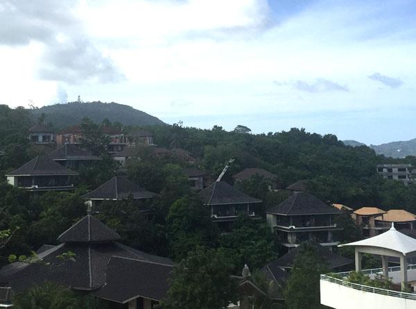 vue du toit ou de la chambre