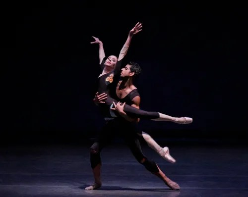 Ashley Laracey and Amar Ramasar in The Infernal Machine New York City Ballet Choreography by Peter Martins Credit Photo: Paul Kolnik studio@paulkolnik.com nyc 212-362-7778