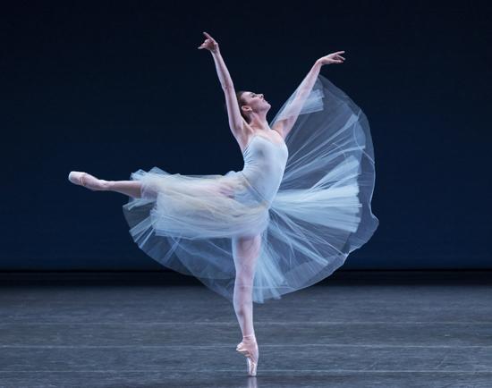 Tiler Peck Serenade Choreography George Balanchine © The George Balanchine Trust New York City Ballet Credit Photo: Paul Kolnik studio@paulkolnik.com nyc 212-362-7778