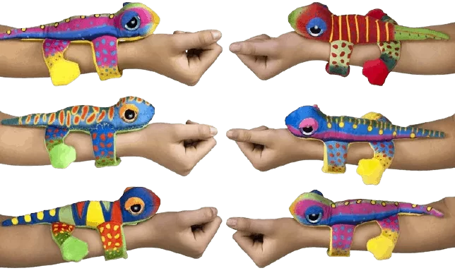Meisjesspeelgoed pluche hagedis huggers