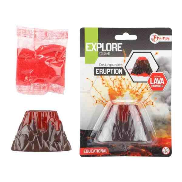educatief speelgoed vulkaanuitbarsting