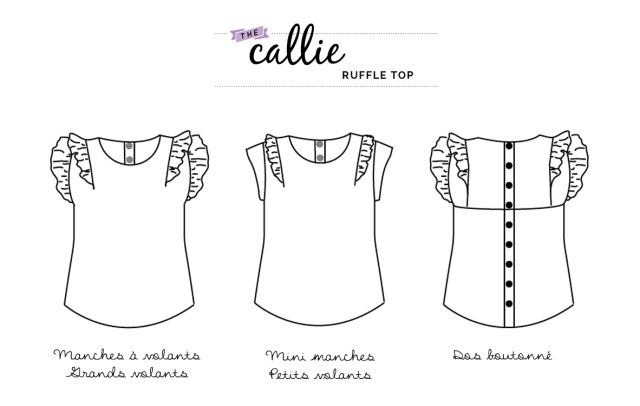 Callie top by See Kate Sew - on sunday mornings