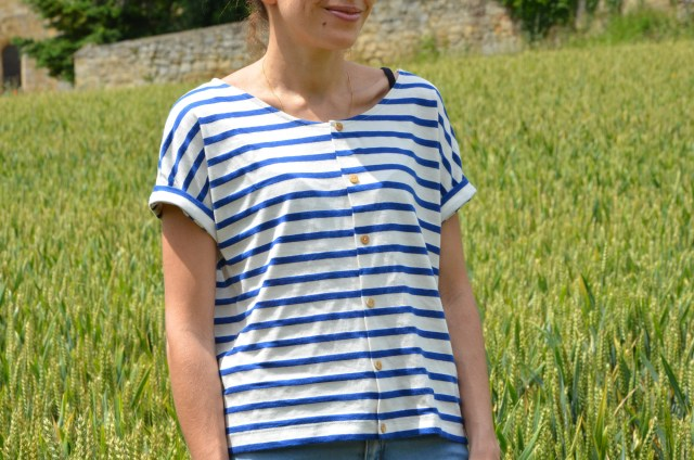 T shirt boutonné Burda #114 Burda 04/2016 - on sunday mornings
