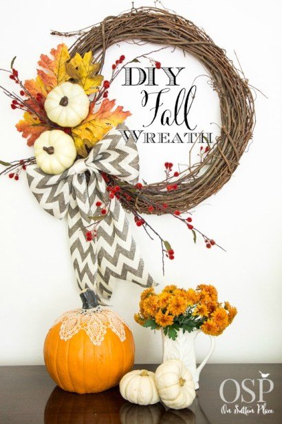 DIY Easy Fall Wreath | from On Sutton Place