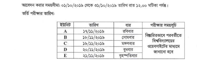 JKKNIU Admission Test date 2019-20