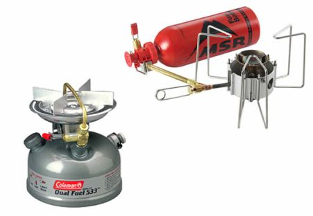 Coleman and MSR stoves