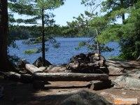 campsite on maple lake, algonquin
