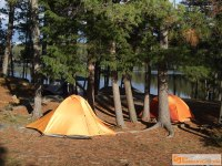 Backcountry Campsite at Opalescent Lake, Algonquin