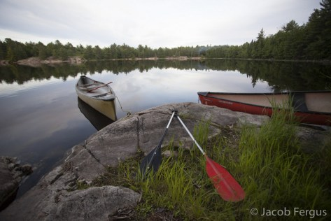 Backcountry camping at Bon Echo Provincial Park