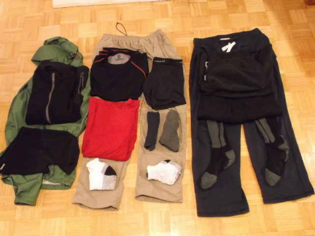 clothes for winter trek