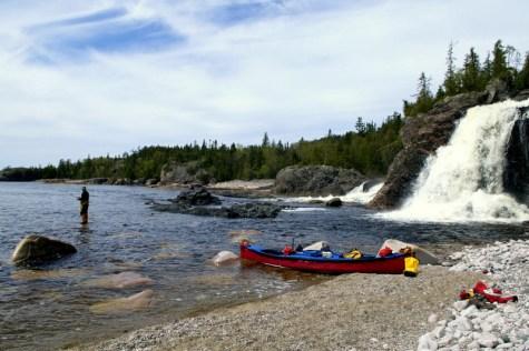 My favorite campsite - Cascade Falls - Lake Superior - Pukaskwa National Park (8)