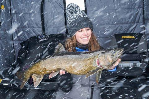 Ashley holding fish