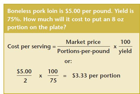 Costing for Foodservice