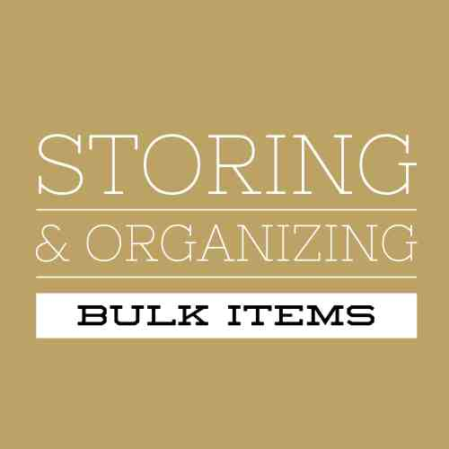 Storing & Organizing Bulk Items Title