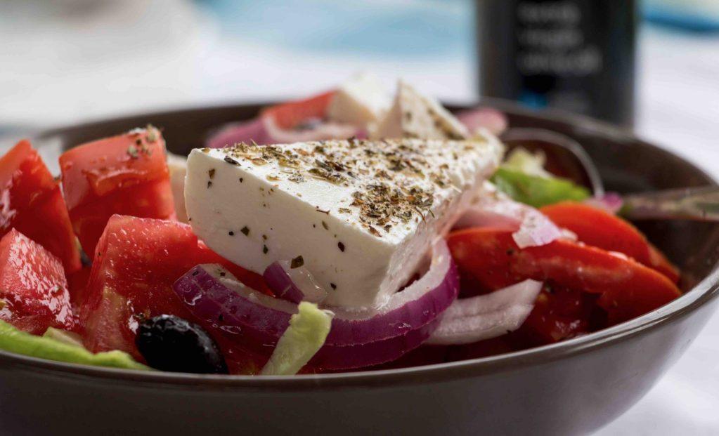 Griekse salade Evia Griekenland