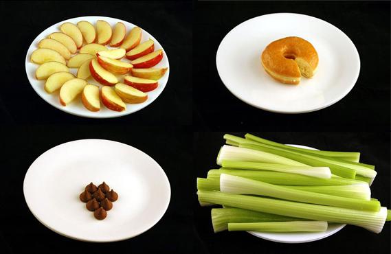 كيف ستبدو ال 200 كالوري في الاطعمة المختلفة
